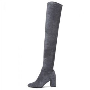 Jeffrey Campbell Gray Suede Thigh-high Boots